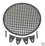 10 Inch Subwoofer Speaker Cover Waffle Mesh Grill Grille Protect Guard With Clips