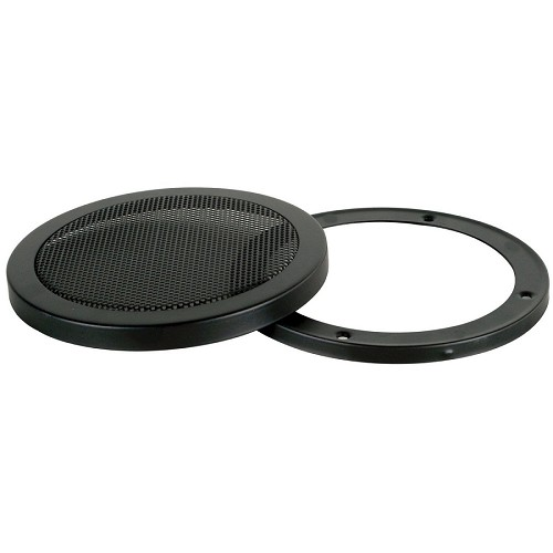 "12"" 12 Inch Mesh Metal Speaker Grill with Double Rings Subwoofer Black"