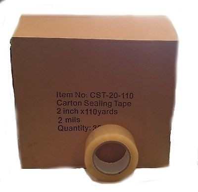 "12 rolls Carton Sealing Clear Packing/Shipping/Box Tape- 2 Mil- 2"" x 110 Yards"
