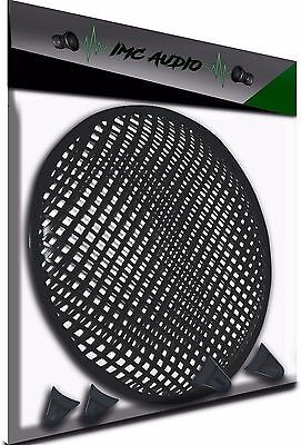 12 INCH SUBWOOFER SPEAKER COVERS WAFFLE MESH GRILL PROTECT GUARD W/ CLIPS 12""