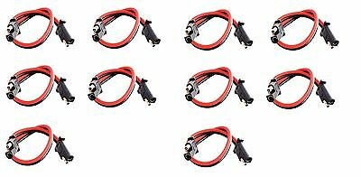 "10 pack 12"" 10 Gauge 2 Pin Quick Disconnect IMC AUDIO Polarized Wire Harness"