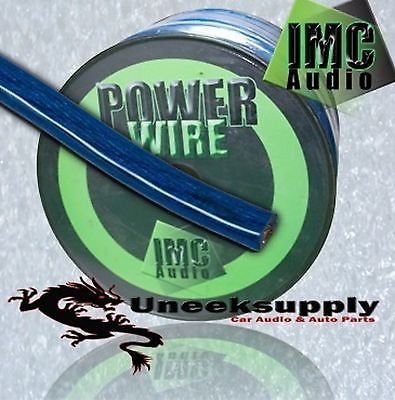 BLUE 4 Gauge Power Amplifier Wire  5 feet ft  4 AWG Primary Cable Guage