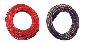 50 Ft 8 Gauge 25' Black 25' Red Power Ground or Speaker Wire Amp Power Car Audio
