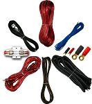 8 Gauge Amp Kit for Amplifier Install Wiring Complete RCA Cable Red 1500W