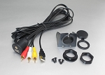 3.5mm 3 RCA USB Extension Cable Flush Mount Set Aux Car Dashboard Center Console