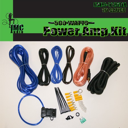 10 Gauge Amplfier Power Kit for Amp Install Wiring Complete RCA Cable Blue 1200W