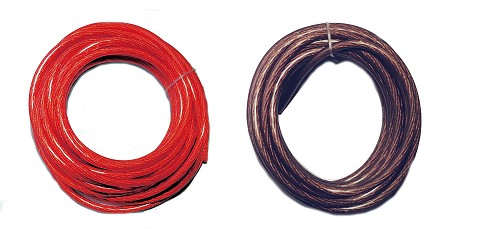 50 Ft - 8 Gauge Power Wire Red High Quality GA Guage Ground AWG 25 Feet Red 25 Feet Black