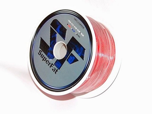 SuperFat 8 Gauge Wire Red -  200ft Roll 100% Copper