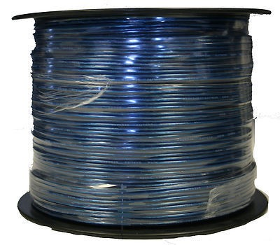 1000' Feet 16 GA Gauge Blue 2 Conductor Speaker Wire Audio Cable IMC AUDIO